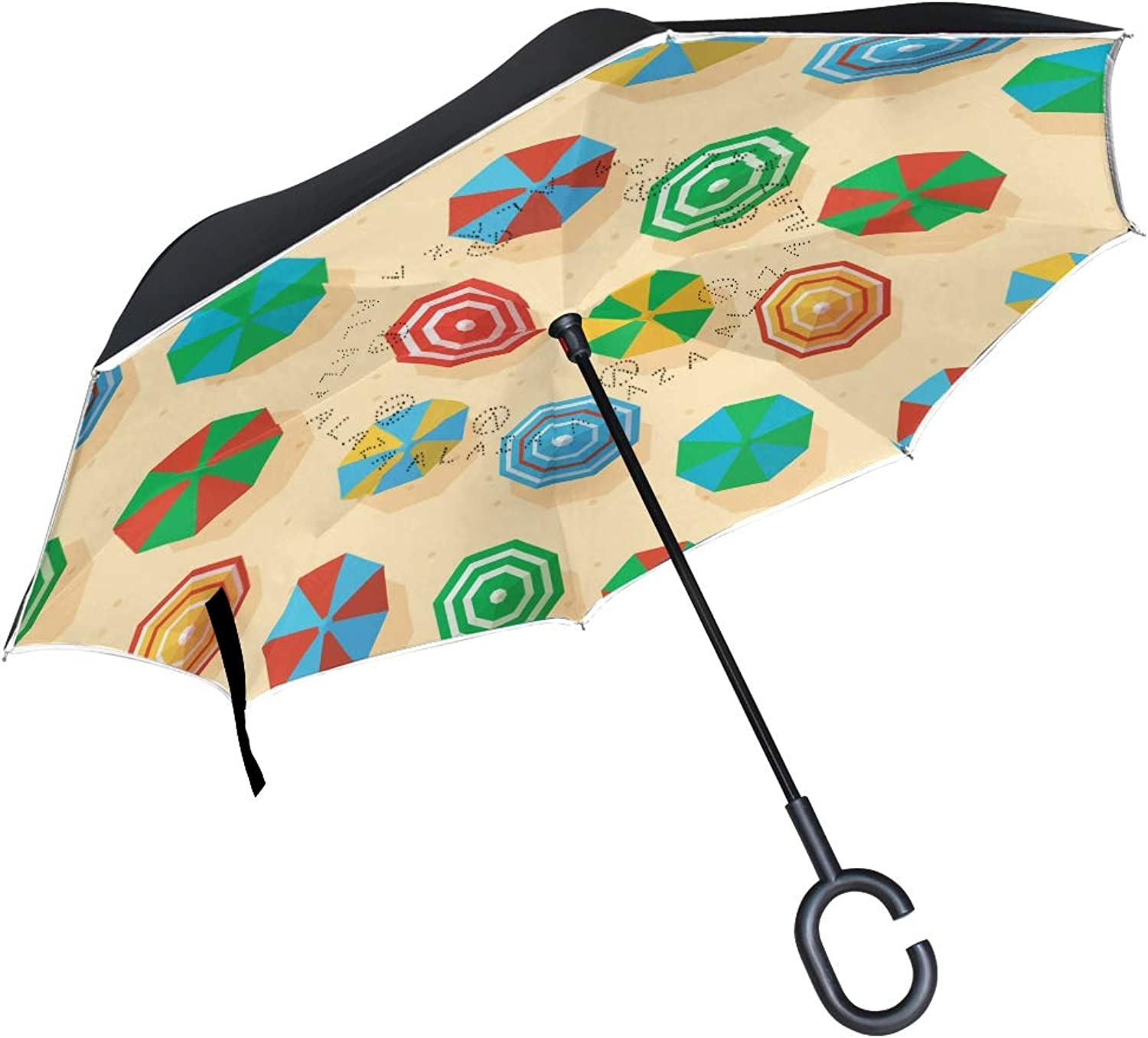 a5e99db7faed Art Flower Ingreened Umbrella Compact Windproof Double Layer Car ...