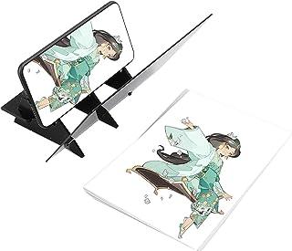 Oumefar Planche à Dessin Optique Planche de Pochoir Copie Miroir Dessin Tableau de réflexion Peinture Kit de Planche de Co...