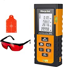 Laser Measure,196ft Laser Tape Measure with Target Plate & Enhancing Glasses, Laser Measuring Device with Pythagorean Mode, Measure Distance, Area, Volume Calculatio