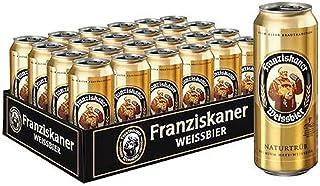 Franziskaner Weissbier Light Wheat Beer Cans, 500 ml (Pack of 24)