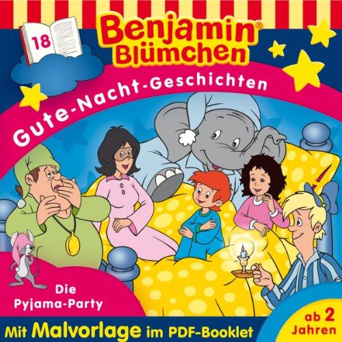 Die Pyjama-Party (Benjamin Blümchen Gute-Nacht-Geschichten 18) Titelbild