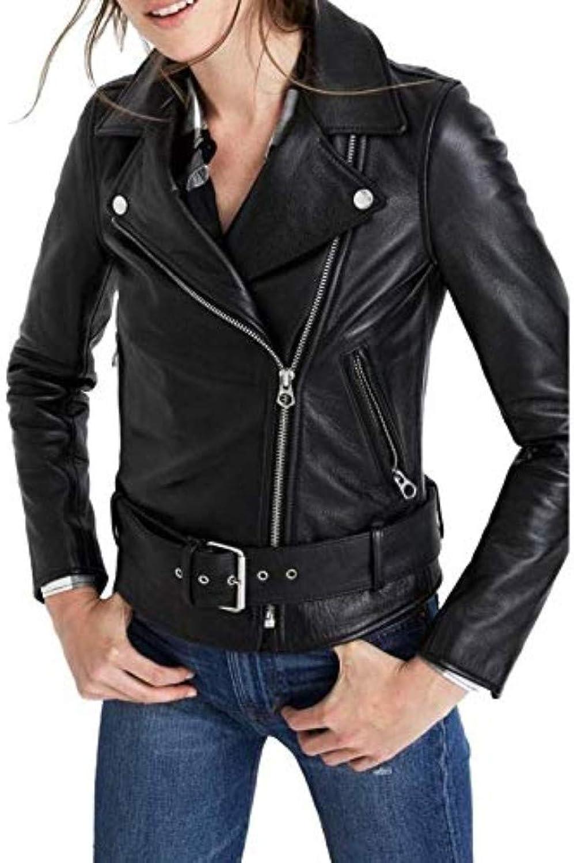 New Fashion Style Women's Leather Jackets Black C27_