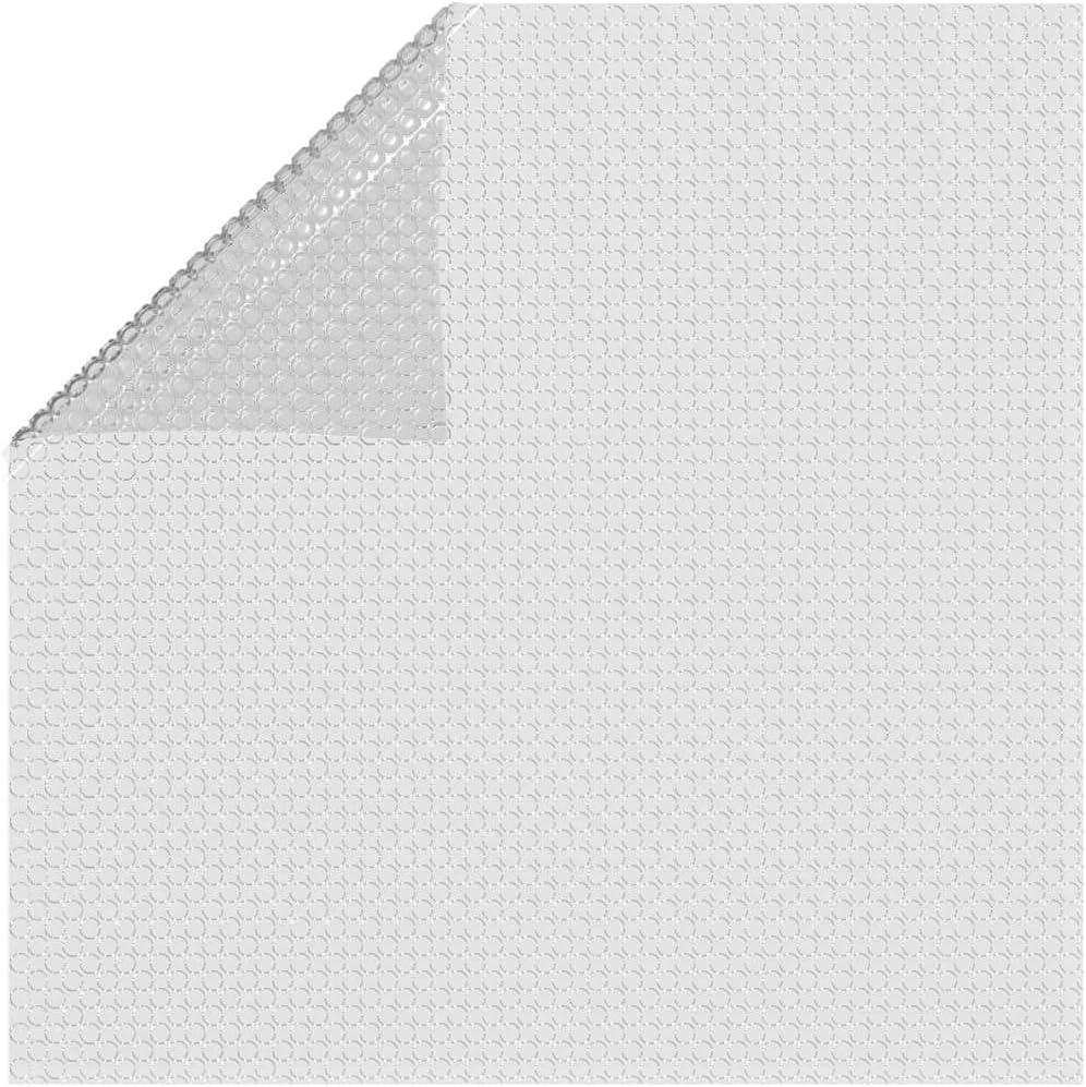 vidaXL Cubierta Solar de Piscina Tapa Invierno Seguridad Protección Desmontable Toldo Patio Impermeable Película Flotante PE Flotante Gris 732x366 cm