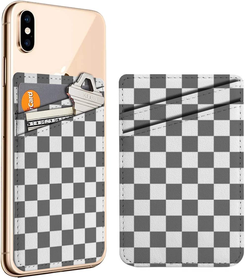 Checkerboard Pattern Design Cell Max 47% OFF Phone Stick Omaha Mall Card On Credit ID