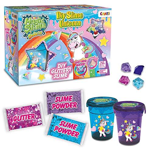 CRAZE Starter Crazy DIY Magic Slime Box Unicorn magischer Einhorn Schleim zum Selbermachen glitzereffekt 23174, tolle Effekte