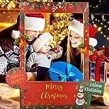 FAVENGO Marco Navidad Marcos 33x40cm Navidenos Marcos Feliz Navidad Photocall Divertido Fotomaton Frames de navidad para Infantiles y los Adultos para Navidad Eventos Comunión Fiesta de Cumpleaños