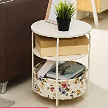 Yxsd Nightstand Bedside Cabinet Three-Tier Locker Small Coffee Table Mini Living Room Corner Table Sofa Side Cabinet Side ...