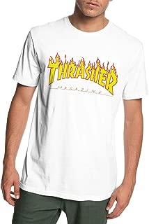Flame Men's Short Sleeve T Shirts Top Fashion Tee T Shirt White