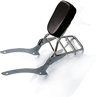 Chrome Backrest Sissy Bar With Luggage Rack Backrest Pad For Yamaha V-Star XVS 1100 Custom Classic 2000-2011