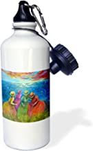 WB 3dRose _ 66357_ 1يواجهاها ، 4م والأخوات زيارة seascoast زجاجة مياه رياضية ، 595.3gram ، أبيض