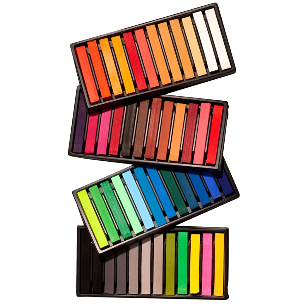 SoHo Urban Artist Soft Pastel Sketch Squares for Professional Pastel Studies, Designing, Plein Air Sketching, Pastel Artwork - [Set of 48 - Assorted Colors]