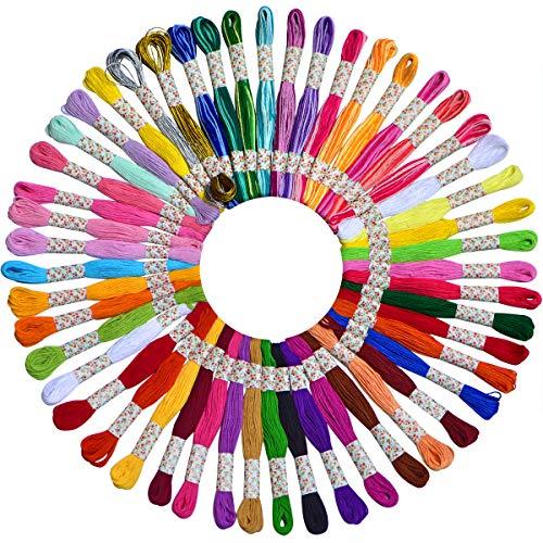 Embroidery Floss with Organizer Storage Box 100 Colors Friendship Bracelets Fl