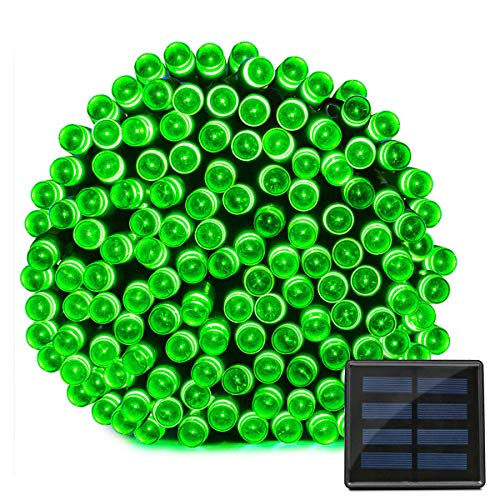 Berocia LED Solar String Lights Outdoor Garden Waterproof Decorative Starry Fairy Lights 200 LED 8 Modes 72ft for Tree Yard Party Christmas (Green)