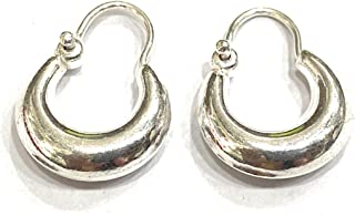 DARSHRAJ Jewellers Sterling Silver Kaju Plain Bali Hoop For Kids Baby Girls|Men|Women - (1.5gm) - smallest size Best For K...