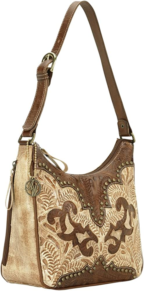 American West Women's Annie's Secret Collection Concealed Carry Shoulder Bag Tan One Size