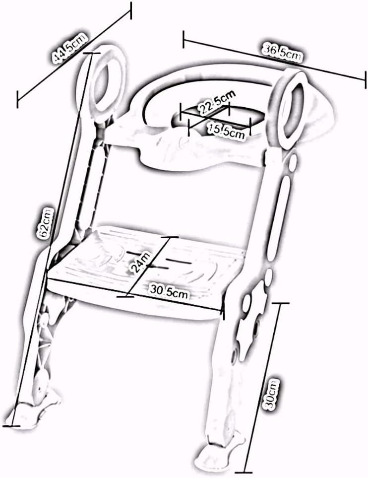 ZZHF dengzi Kinder färbten Töpfchen-Stuhl/faltbaren Baby-Toiletten-Sitz/Kleinkind erhöhen Kommode-Stühle (Farbe : A) C