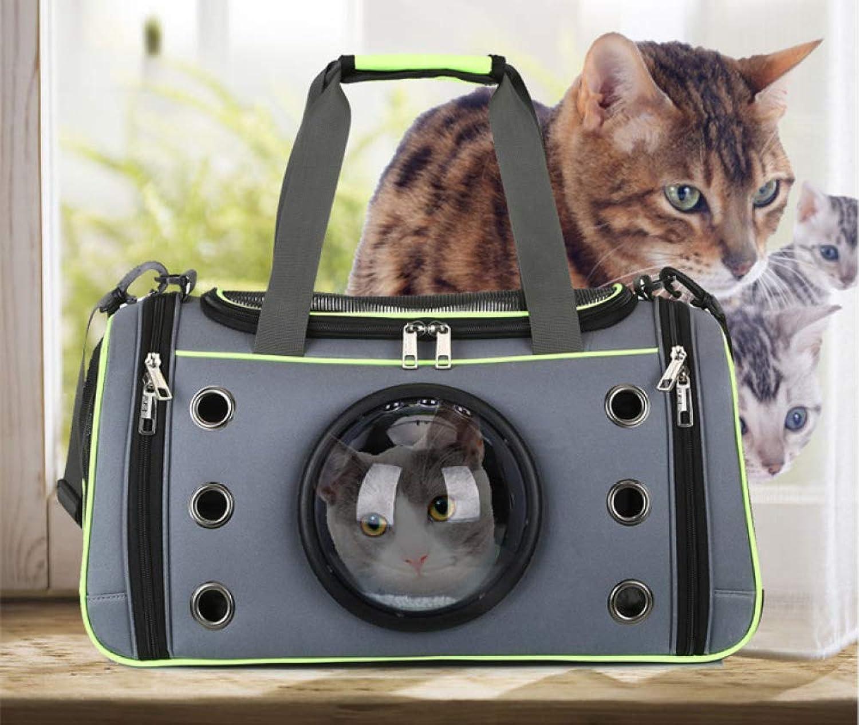 Foldable Portable Dog Bag Pet Handbag Breathable Cat Bag 51  28  26cm,Green