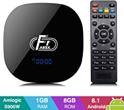 A95X F1 Android 8.1 TV Box with 1GB RAM 8GB ROM Amlogic S905W Quad-core Cortex-A53 WiFi 2.4GHz Ethernet Support HD 4K 3D H.265 Android Box [2019 Version]