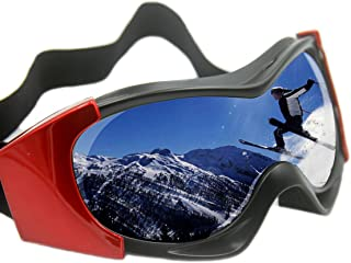 Vhccirt OTG Ski Goggles Anti-Fog Polarized PC Lens 100% UV Protection Unisex Adjustable Strap Snowboard/Parachute Jumping Windproof Goggles
