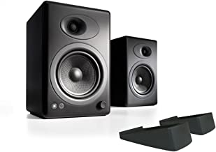 Audioengine A5+ Powered Desktop Speaker Bundle with DS2 Desktop Speaker Stands - (Pair) Black