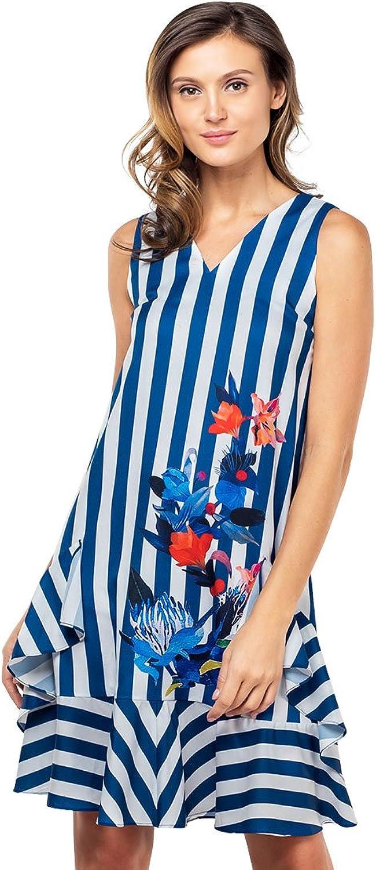 Plains and Prints Womens Yvves Sleeveless Dress
