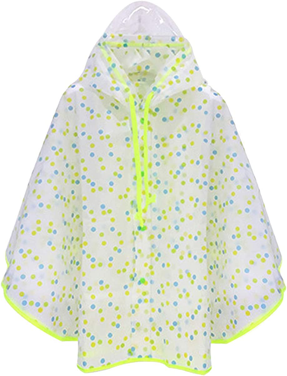 Hiheart Boys Max 40% OFF 2021 new Girls Hooded Raincoat Rain Poncho Waterproof