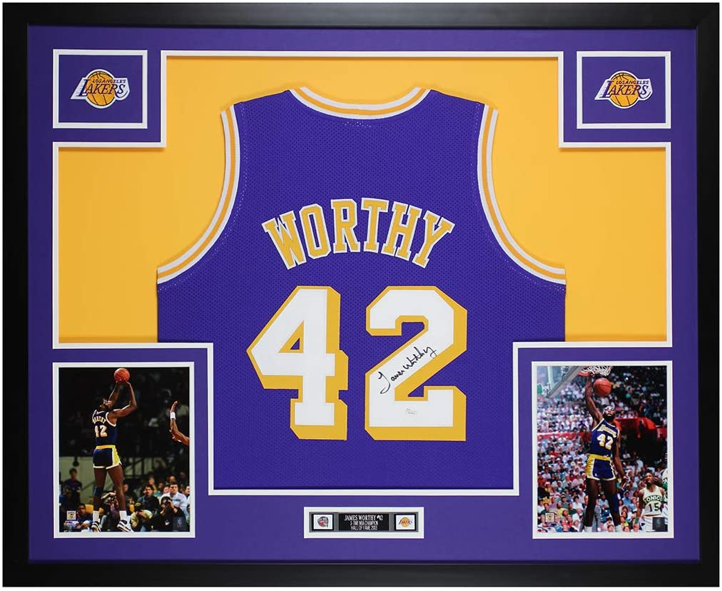 James Worthy Autographed Purple Los Angeles Lakers Jersey ...