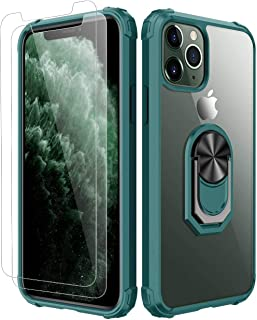 iPhone 11 pro Case, [ Military Grade ] with [ Glass Screen Protector] 15ft. Drop Tested Protective Case, Kickstand, Compat...