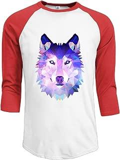 J-OOP Wolf Art Cartoon Logo Men's Half Sleeve T-shirts