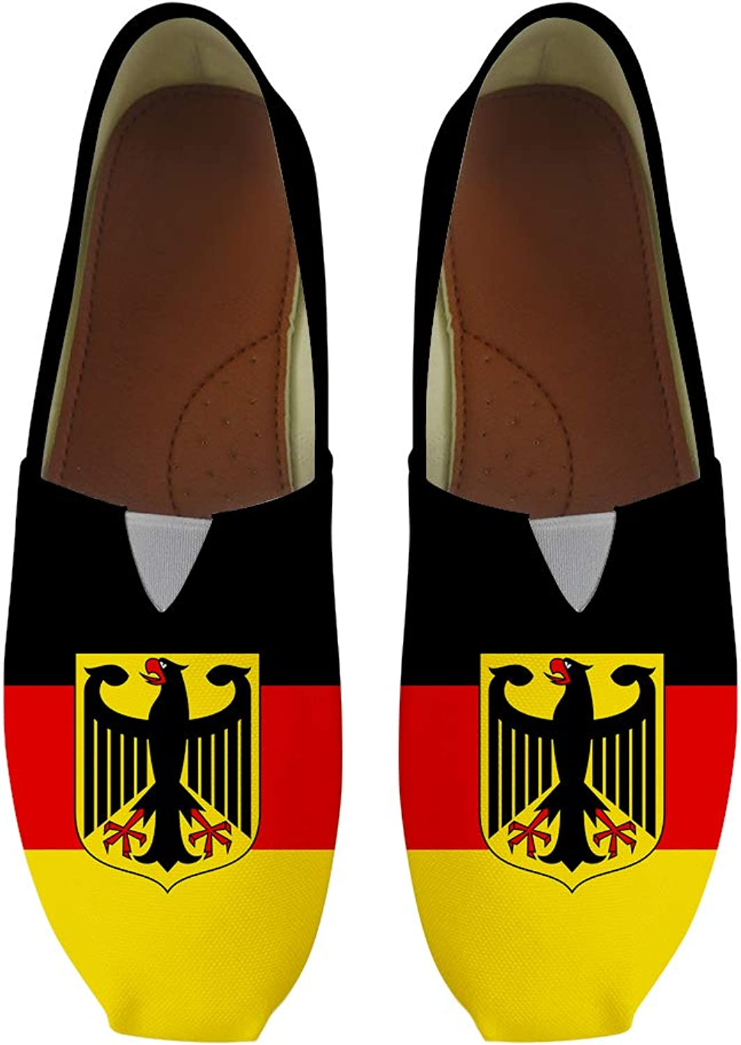 Owaheson Classic Canvas Slip-On Lightweight Driving shoes Soft Penny Loafers Men Women German Flag National Emblem