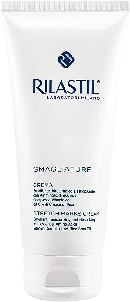Rilastil Smagliature - Crema Antiestrías - Previene y Reduce las Estrías en Abdomen, Caderas, Glúteos, Muslos y Pecho - 200 ml