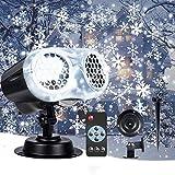 VIFLYKOO Luces Proyector de Navidad,Lámpara de Proyección de Nieve Efecto Dos Tubos de Lámpara Iluminación...