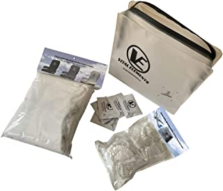 Travel Safe Pack: Airplane Seat Covers (with Armrest) Grey with TSA Tray Liners, Wipes BOX 25