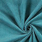 Fabulous Fabrics Cord Petrol, Uni, 142cm breit – Cord