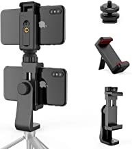 """Universal Phone Tripod Mount Adapter + 1/4"""" Screw + Cell Phone Bracket Clamp, Rotatable Vertical and Horizontal Smartphone..."""