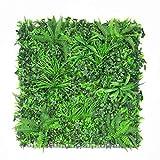 ULAND フェイクグリーン ウォールグリーン 1mx1m 壁掛け 観葉植物 マット インテリア 壁装飾 [並行輸入品]