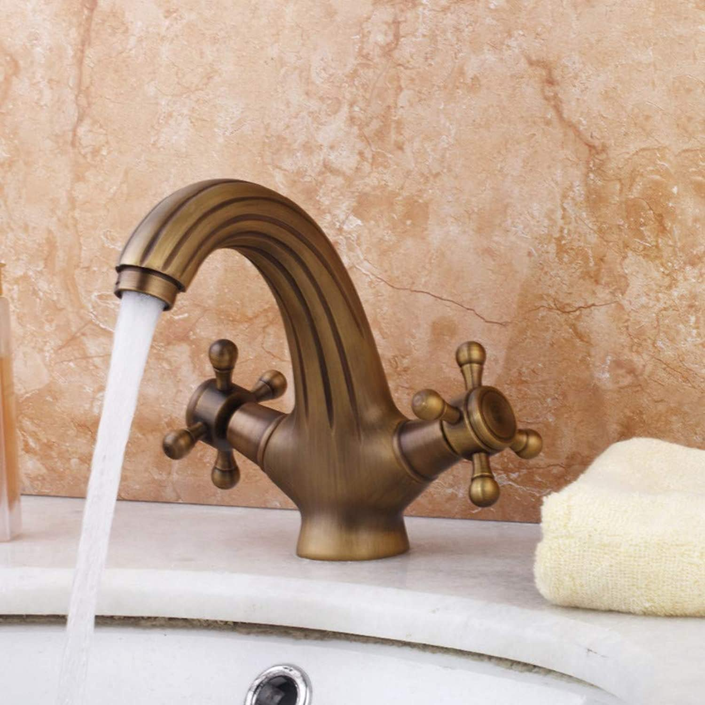 Lddpl Deck MontiertKlassische Einzelhalter Doppel Griffe Antik Messing Bad Waschbecken Waschbecken Mischbatterie Wasserhahn Neu