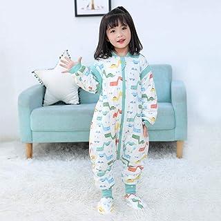 Saco de Dormir Con Pies Para Bebé,Pijamas Unisex del Bebé, Mono de La Historieta del Bebé de Los Niños del Algodón-Tiranosaurio (Con Cubre Pies)_110Yardas(Altura 95-110cm)
