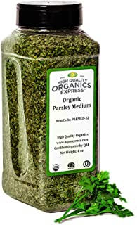 Sponsored Ad - HQOExpress | Organic Parsley Flakes | Leaf | 4 oz. Chef Jar | Certified USDA