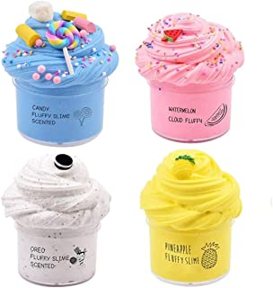 DELFINO Slime Kit, Cutiecute Butter Slime Kit, Super Soft & Non-Sticky, Stress Relief Toy Scented Sludge Toy for Kids Educ...