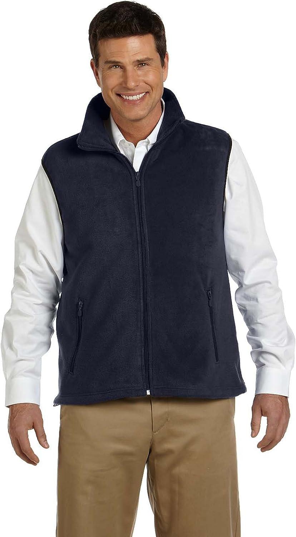 Harriton Adult 8 oz Fleece Vest - Navy - 3XL - (Style # M985 - Original Label)