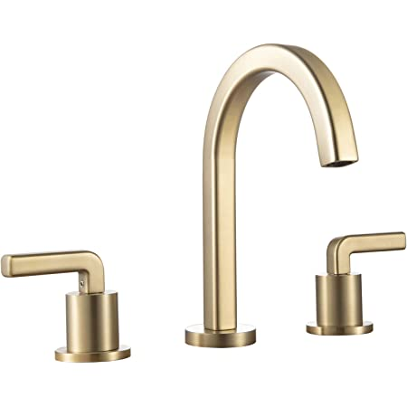 Simple And Elegant Bathroom Sink Faucets For Vanity Basin Brass Brushed Gold Amazon Com