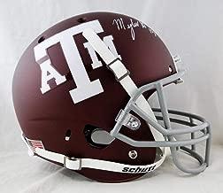 Myles Garrett Autographed F/S Texas A&M Maroon Schutt Helmet- JSA W Auth White