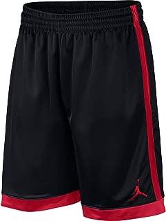 Nike Men's FRANCHISE Short Shimmer, Black(Black/Gym Red/Gym Red010), Small