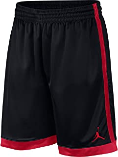 Nike Men's FRANCHISE Short Shimmer, Black(Black/Gym Red/Gym Red010), Small