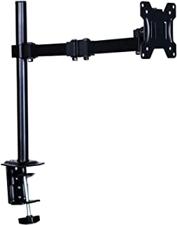 "AIMEZO Single LCD Monitor Desk Mount Stand Fully Adjustable/Tilt/Articulating for 1 Screen 13"" to 27"""