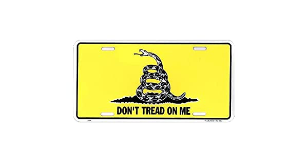 License Plate Signs 4 Fun Slsnk Dont Tread on Me