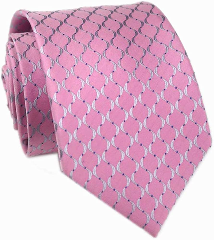 Gingham Plaid Ties for Mens Polka Pin Dots Smooth Formal Patterned Suit Neckties