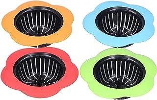 Hyuduo 4 Pièces Attrape-Cheveux, Filtre de Vidange de Douche D'évier, Fournitures de Maison en Plastique + Silicone, pour ...