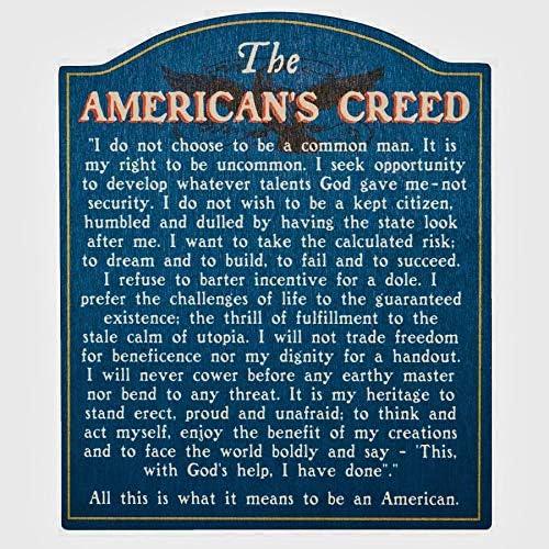 超特価SALE開催 American's 往復送料無料 Creed' Wooden Sign Gift Designed Manufact Proudly -